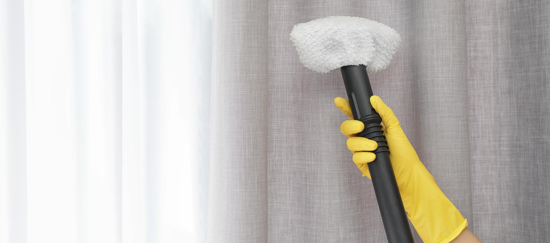 химическая чистка штор на дому